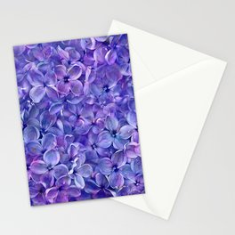 Lilac Petals Stationery Cards