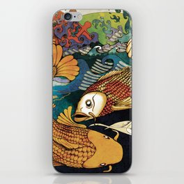 Koi & Egret iPhone Skin