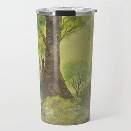 Playful sun rays in the woods Travel Mug