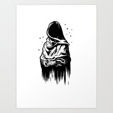Time (Black and White) Art Print