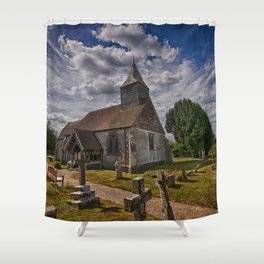 St Bartholomew Chalvington Shower Curtain