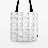 architect Tote Bags featuring Architect by Luana Rios