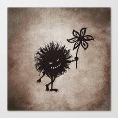 Evil Bug Gives Flower Canvas Print
