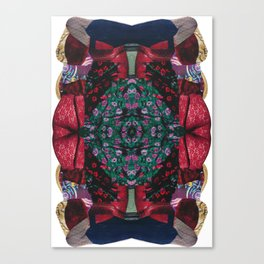 red lace - a modern, colorful collage Canvas Print