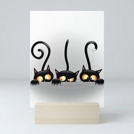 Three Naughty Playful Kitties Mini Art Print