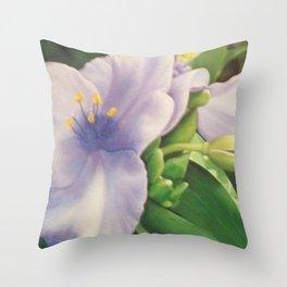 Virginia Spiderwort Throw Pillow