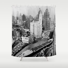 Largest travel Chicago River Chicago Illinois Shower Curtain