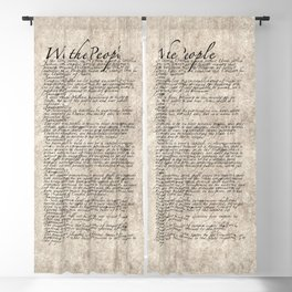 US Constitution - United States Bill of Rights Blackout Curtain
