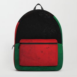 Distressed Afro-American / Pan-African / UNIA flag Backpack