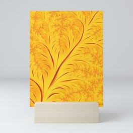 Fall Leaves Abstract Autumn Yellow Orange Gold Leaf Pattern Mini Art Print