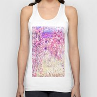 monet Tank Tops featuring Monet : The House Among the Roses  by PureVintageLove
