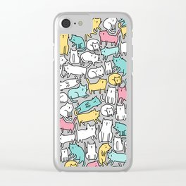 Cute kitties. Cats pattern. Clear iPhone Case