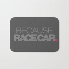 BECAUSE RACE CAR v4 HQvector Bath Mat