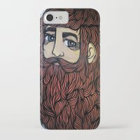 beard iPhone & iPod Cases featuring beard by Deerabigale