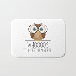 Whoooo's The Best Teacher?! Bath Mat