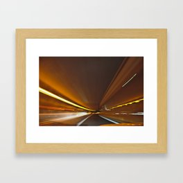 Traffic in warp speed Framed Art Print