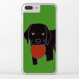 Black Lab Puppy Clear iPhone Case