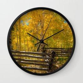 Aspen Autumn Color I - Southern Utah Wall Clock