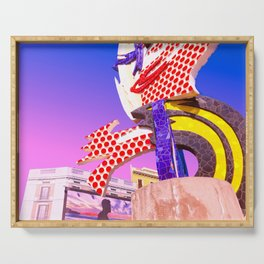 Pop Art City of Barcelona Serving Tray