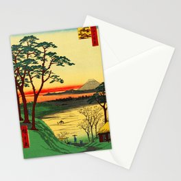 Japanese Tea House on River Stationery Cards