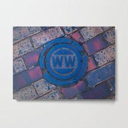 Water Main Caps Street Brick Metal Print