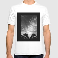 Sky  Explosion MEDIUM White Mens Fitted Tee