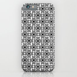Polynesian Tattoo  Style Tribal Valentines Motif Pattern Black iPhone Case