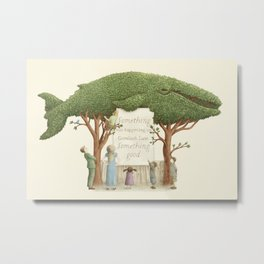 The Night Gardener - Whale Display  Metal Print