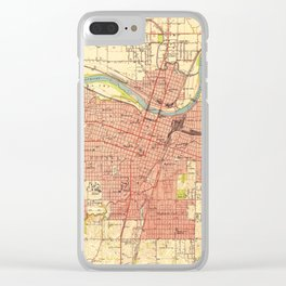 Vintage Map of Topeka Kansas (1951) Clear iPhone Case