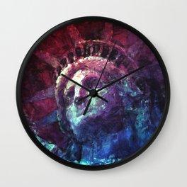 Patriotic Liberty Wall Clock