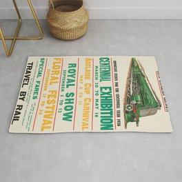 Vintage poster - South Australia Railways Rug
