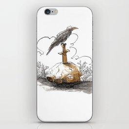 Blackbird on Sword iPhone Skin