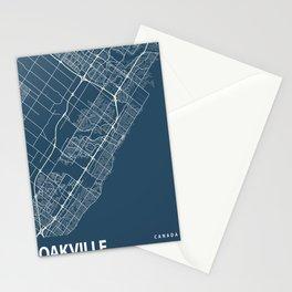 Oakville Blueprint Street Map, Oakville Colour Map Prints Stationery Cards