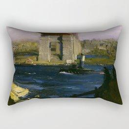 "George Wesley Bellows ""Bridge, Blackwell's Island"" Rectangular Pillow"