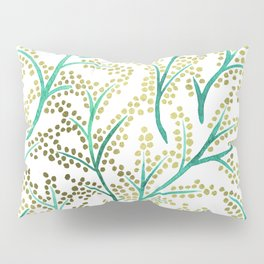 Green & Gold Branches Pillow Sham