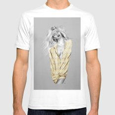 + BAD GIRLS + Mens Fitted Tee White SMALL