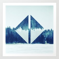 Mirror forest Art Print