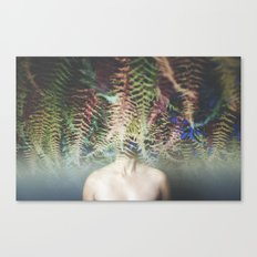 her head in the ferns Canvas Print