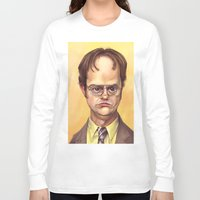 dwight schrute Long Sleeve T-shirts featuring Mr. Dwight K Schrute by Ben Anderson