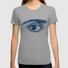 I see you. Navy Blue on Cream T-shirt