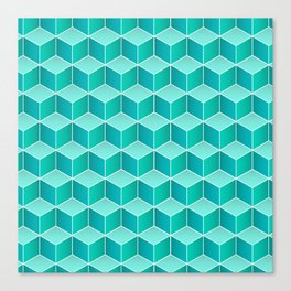 Ocean cubes, a symmetric pattern inspired by the sea. Canvas Print