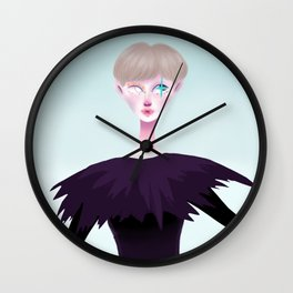 Colourful clown Wall Clock