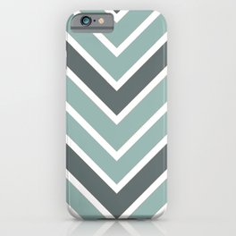 Chevron Shades of Gray & White iPhone Case
