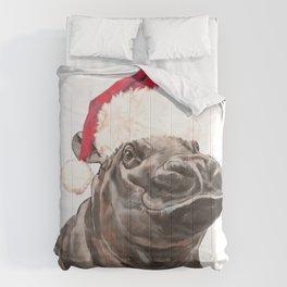 Christmas Baby Hippo Comforters