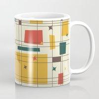 mid century modern Mugs featuring Mid-Century Modern by Studio Fibonacci