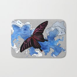 Butterfly II ink by carographic, Carolyn Mielke Bath Mat