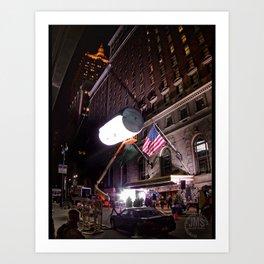 Roosevelt Hotel in Studio Lights Art Print