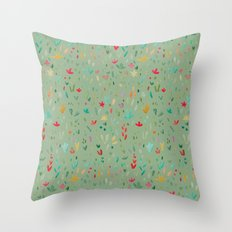Small Floral  Throw Pillow