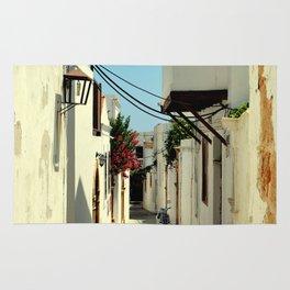Street in Lindos Rug