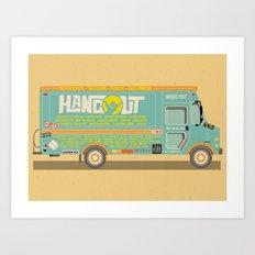 Hangout Music Fest 2014 Truck Poster Art Print